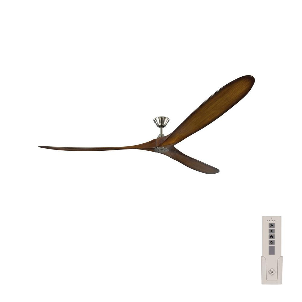 Monte Carlo Maverick Grand 99 in. Indoor/Outdoor Brushed Steel Ceiling Fan with Koa Blades