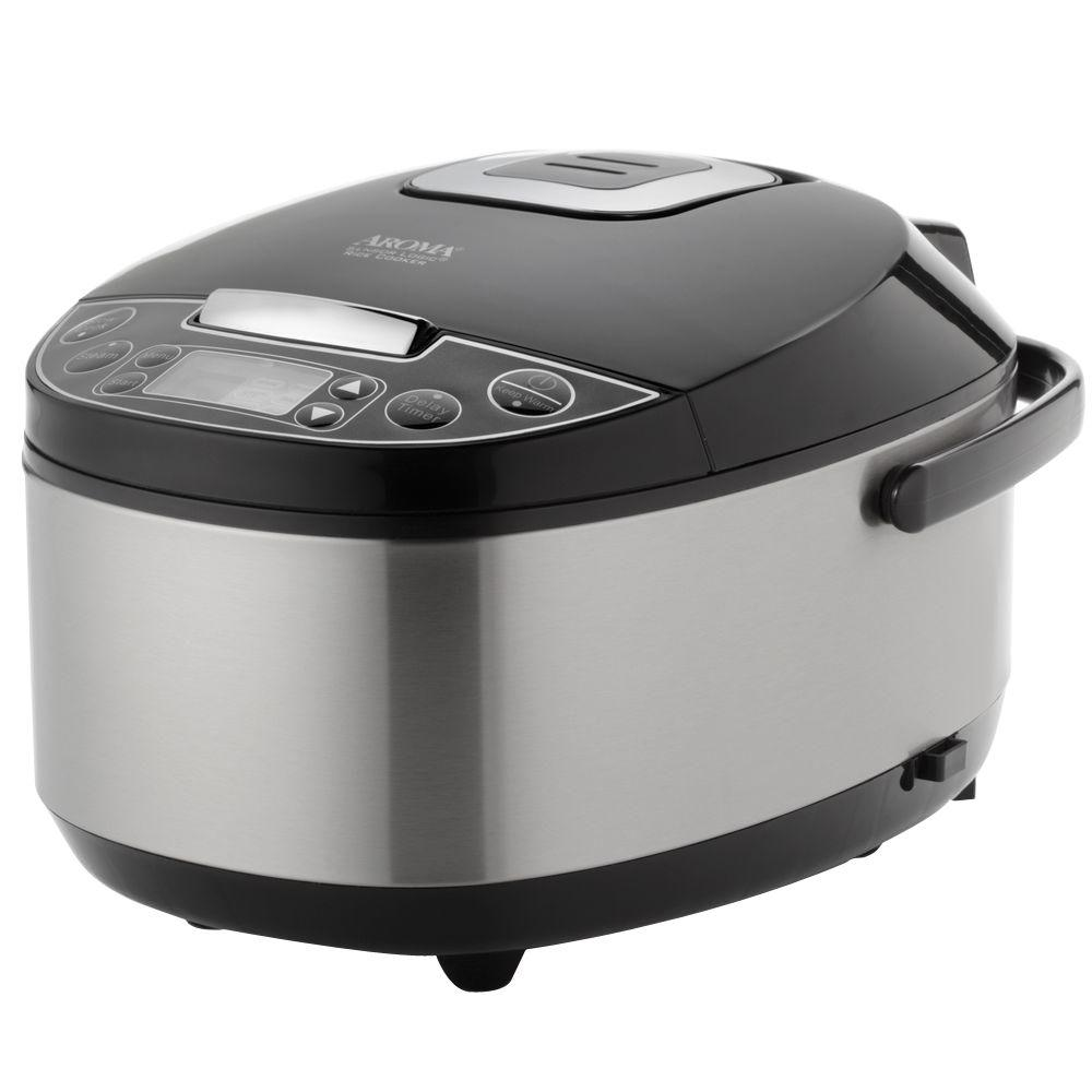 Aroma Housewares 12-Cup Rice Cooker, Stainless