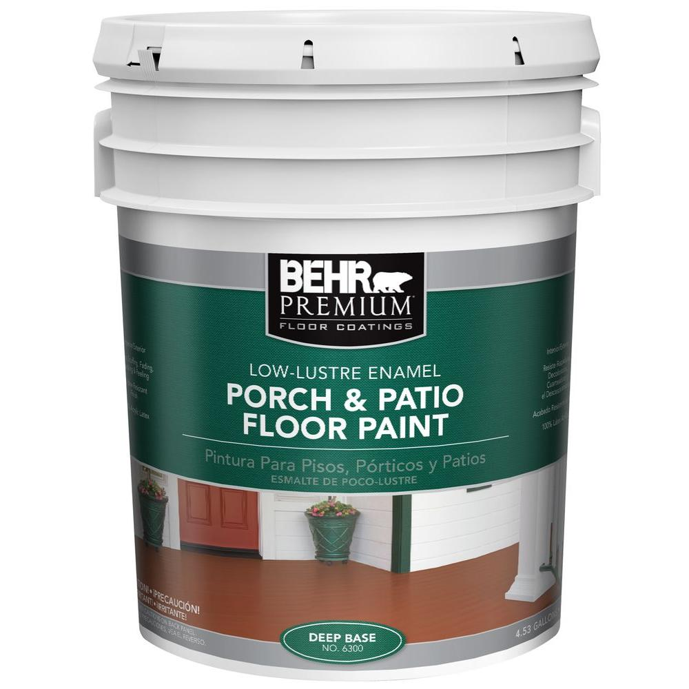 Behr Premium 5 Gal 6300 Deep Low Er Interior Exterior Porch And Patio