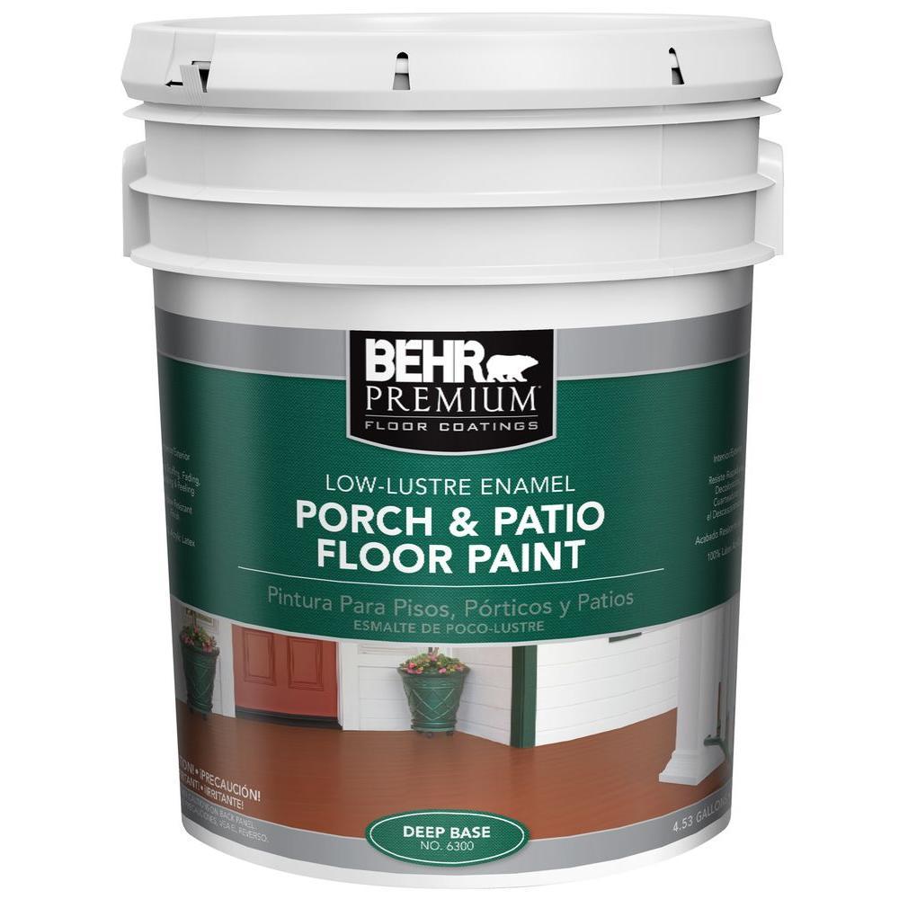 BEHR Premium 5 Gal. #6300 Deep Low Luster Interior/Exterior Porch And Patio