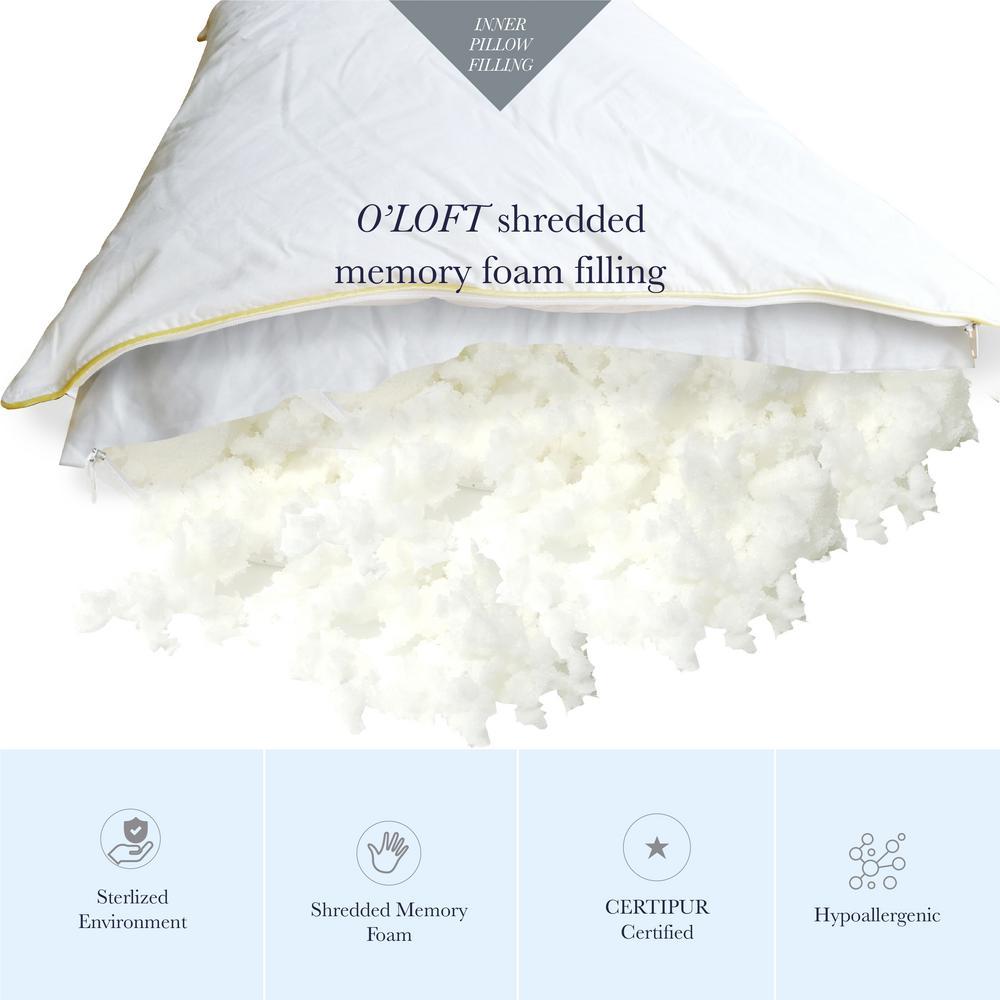 A1HC Organic Cotton Hypoallergenic Down Alternative Queen Pillow