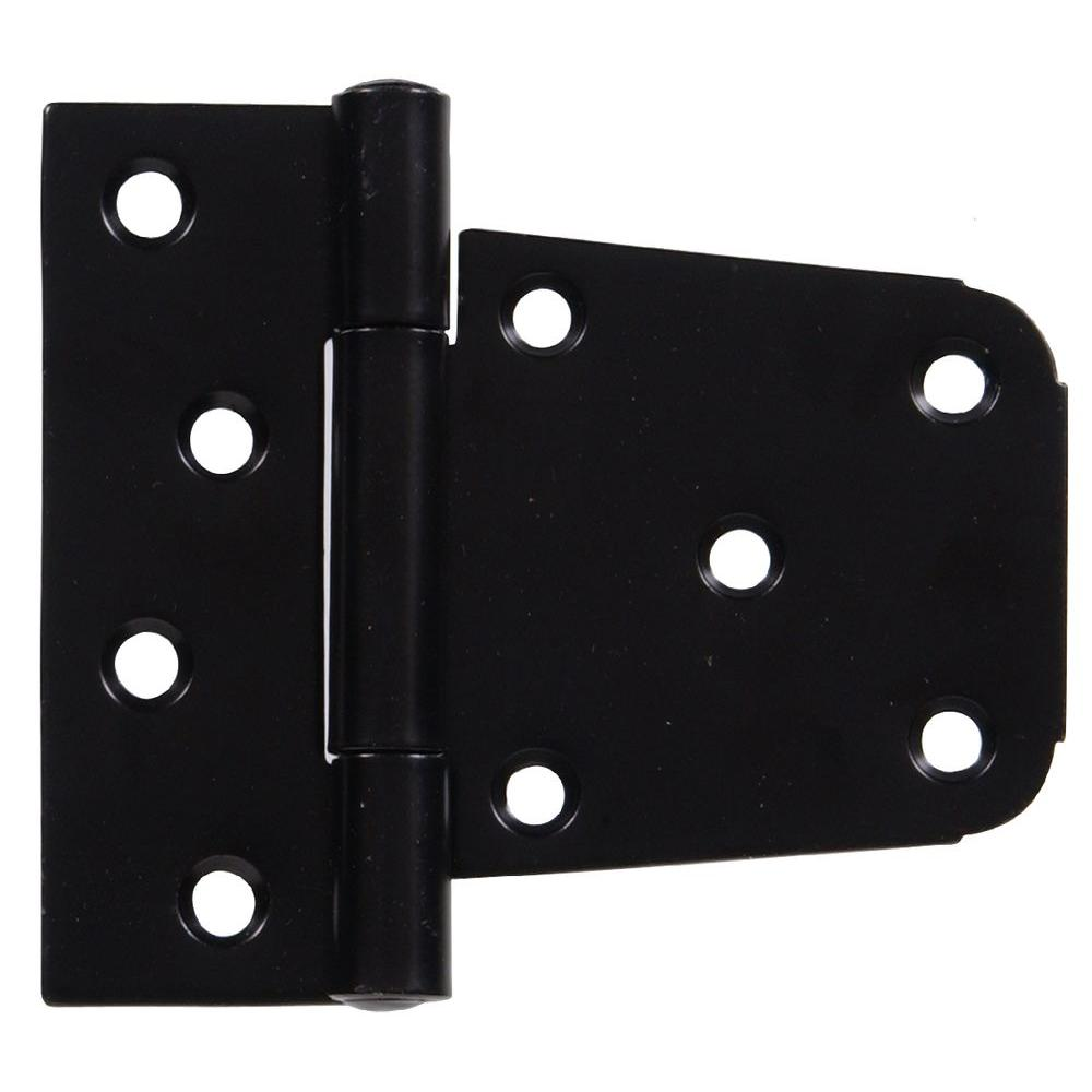 3-1/2 in. Heavy Duty T-Hinge in Black for 2 x 4