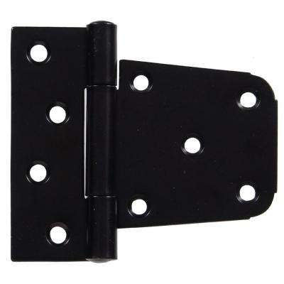 3-1/2 in. Heavy Duty T-Hinge in Black for 2 x 4 or 4 x 4 Post Applications (5-Pack)