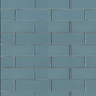 Harbor 3 in. x 9 in. x 8mm Glossy Glass Gray Subway Tile (3.8 sq. ft. / case)