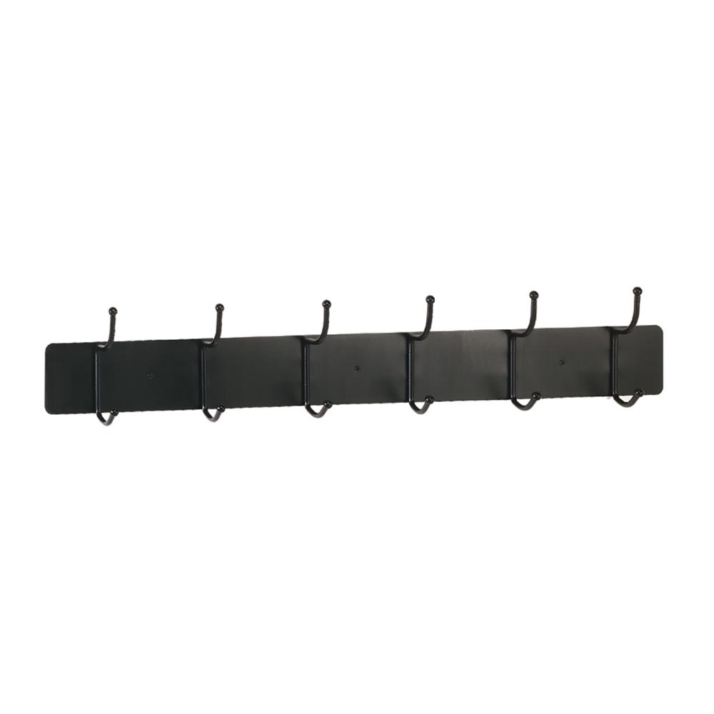 36 In W X 3625 In D X 7625 In H Steel 6 Hook Coat Rack With