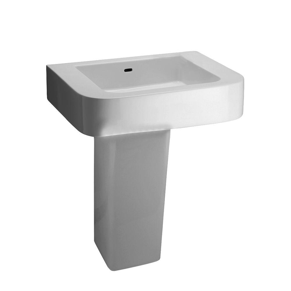 Barclay Products Rondo Pedestal Combo Bathroom Sink in White