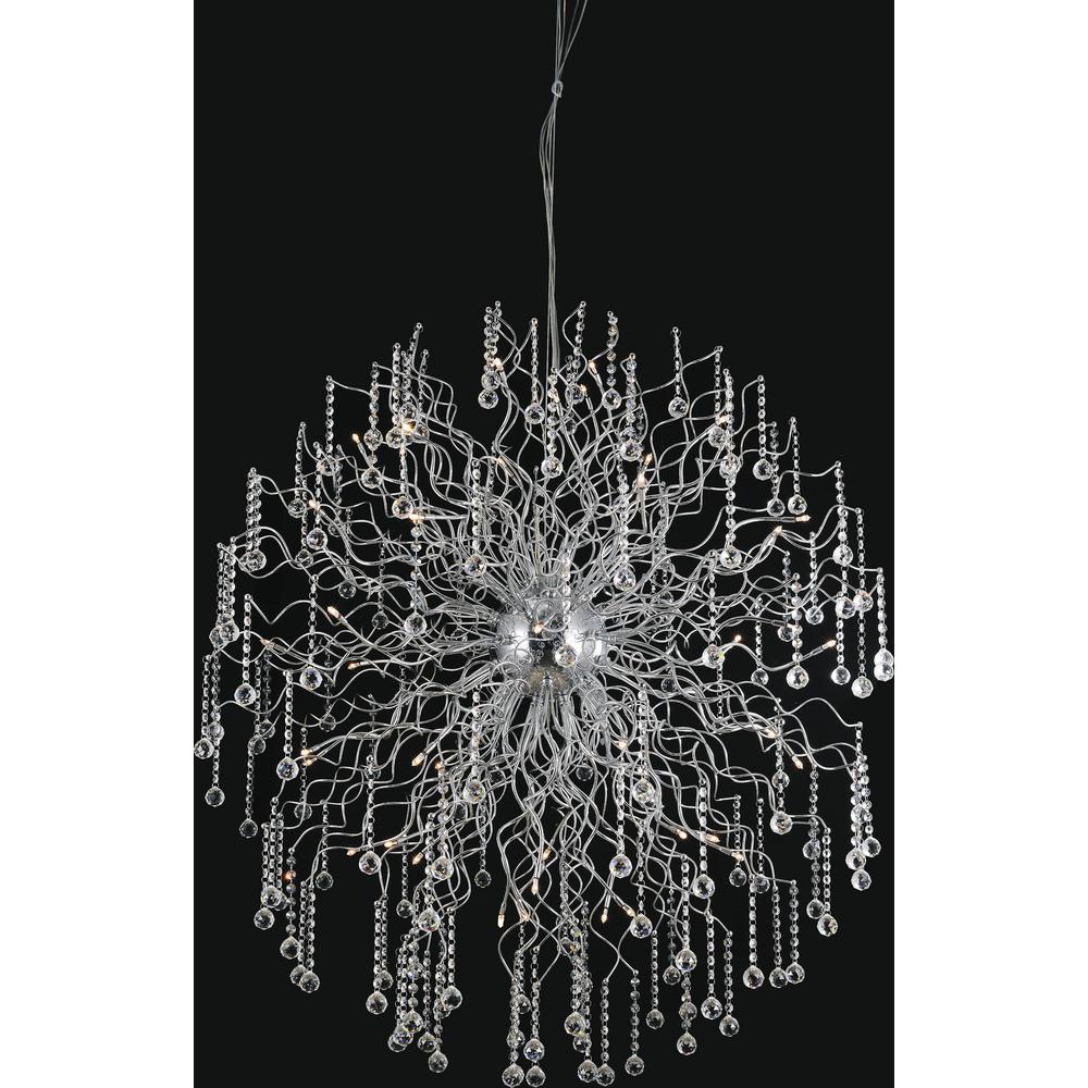 Cherry Blossom 48-light chrome chandelier