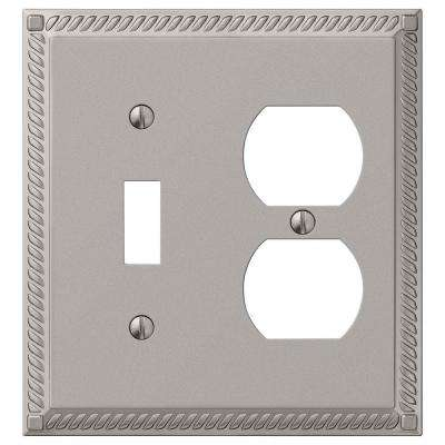Georgian 1 Toggle 1 Duplex Wall Plate - Nickel
