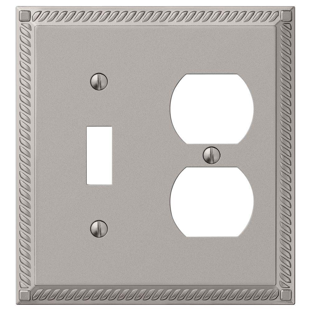 Georgian 1 Toggle Duplex Wall Plate Nickel