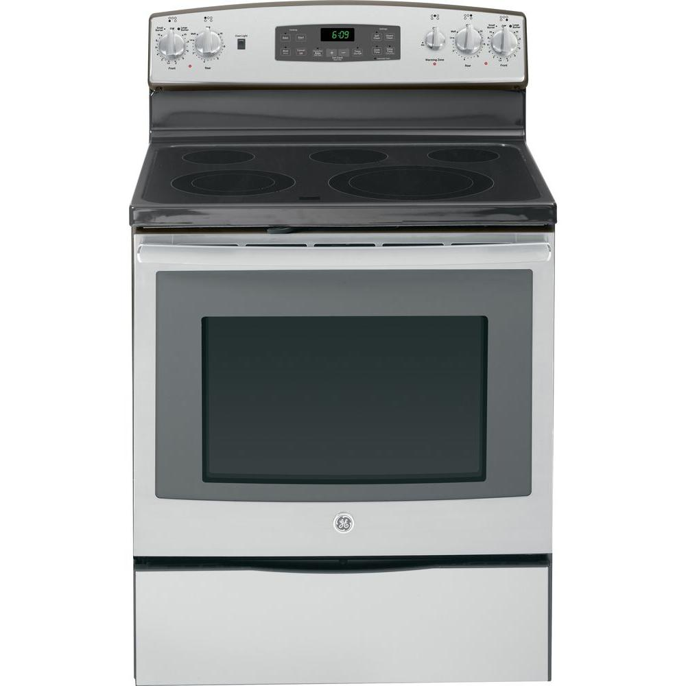 GE 5.3 cu. ft. Electric Range with Self-Cleaning Oven and Convection in Stainless Steel