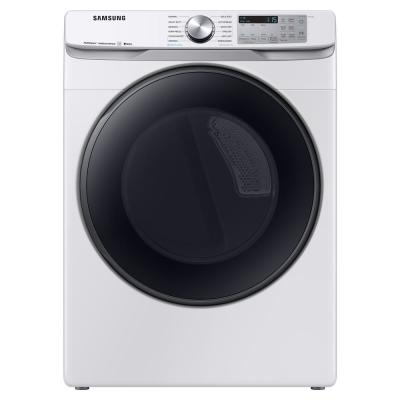 7.5 cu. ft. 240-Volt White Front Load Electric Dryer with Steam Sanitize+, ENERGY STAR