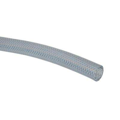 1/2 in. I.D. x 3/4 in. O.D. x 10 ft. Clear Braided Vinyl Tubing