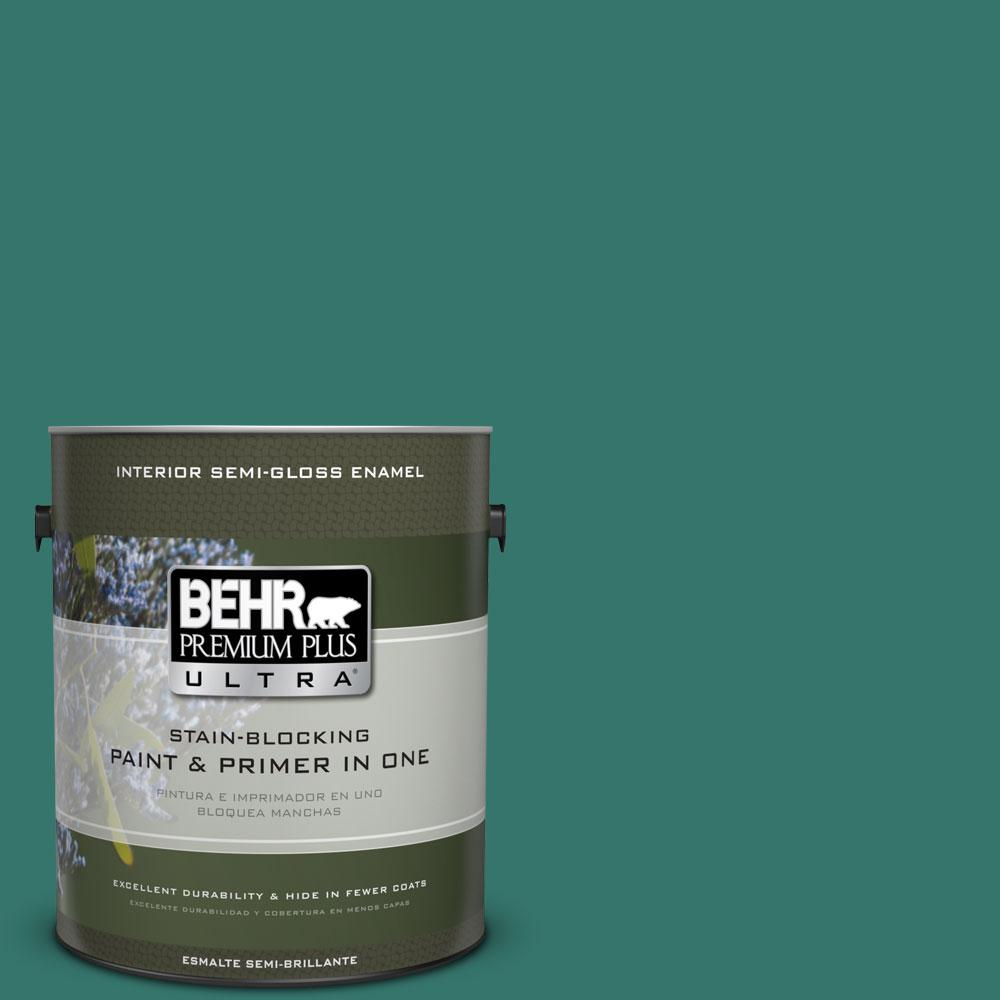 1 gal. #490D-7 Greensleeves Semi-Gloss Enamel Interior Paint and Primer in
