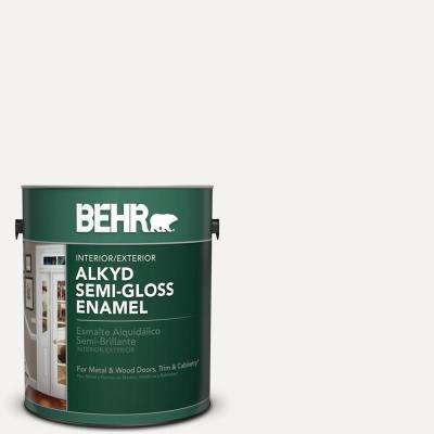 1 Gal. White Alkyd Semi-Gloss Enamel Alkyd Interior/Exterior Paint