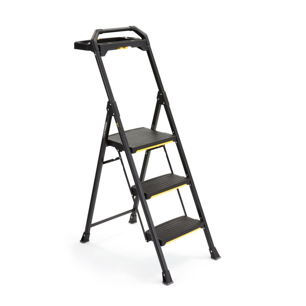 Gorilla Ladders 3-Step Pro-Grade Steel Project Ladder, 300
