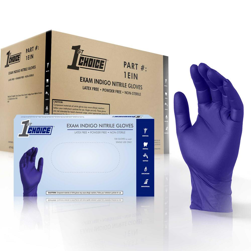Purple Nitrile Powder Free Disposable Gloves Medical Exam Size L 100//box