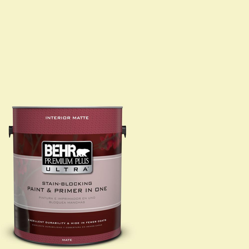 1 gal. #400A-1 Candlelight Yellow Flat/Matte Interior Paint