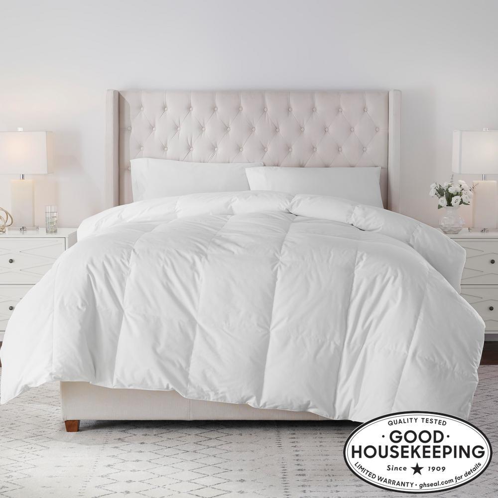Lightweight Down White Cotton Twin Comforter