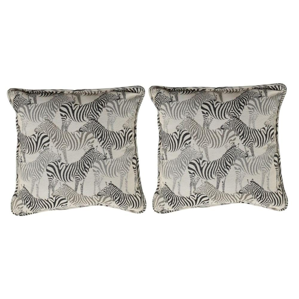 null Stanton Zebra Outdoor Square Throw Pillow (2-Pack)