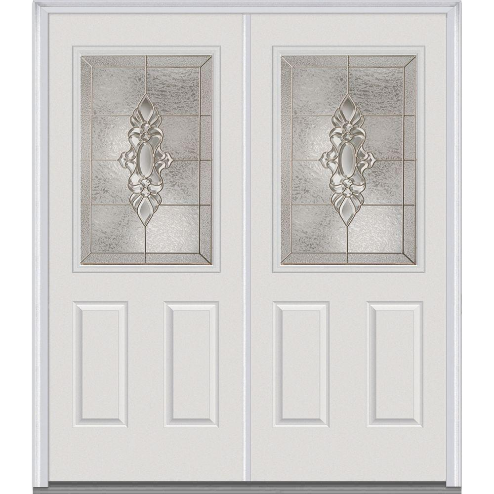 72 in. x 80 in. Heirloom Master Left-Hand Inswing 1/2-Lite Decorative