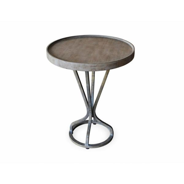 222 Fifth Vintage Industrial Grey Accent Table