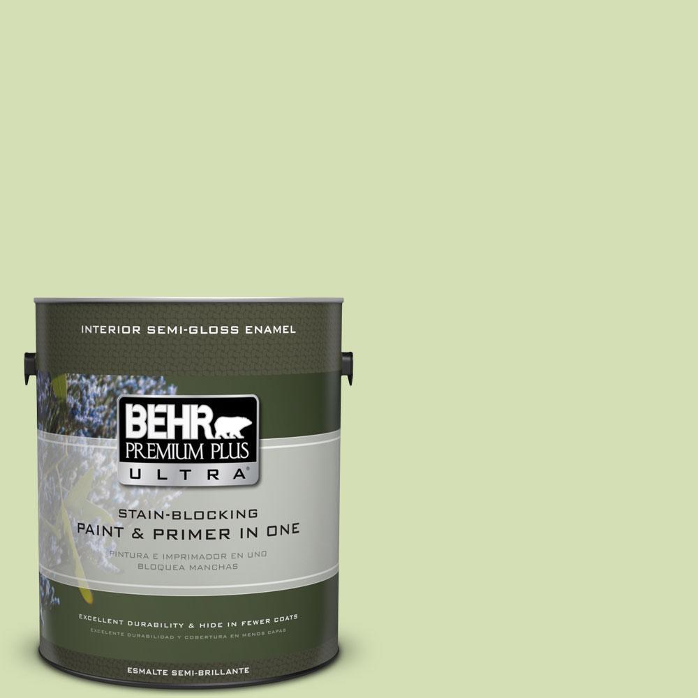 BEHR Premium Plus Ultra 1-gal. #420C-3 Celery Bunch Semi-Gloss Enamel Interior Paint