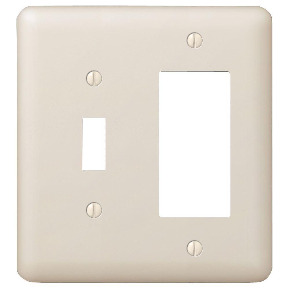 Devon 1 Toggle and 1 Decora Combination Wall Plate - Almond