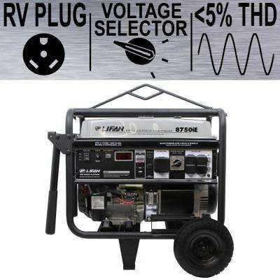 Platinum Series 8,750/8,000-Watt Gasoline with Powered Electric Start Clean Power Portable Generator with 50 Amp RV Plug