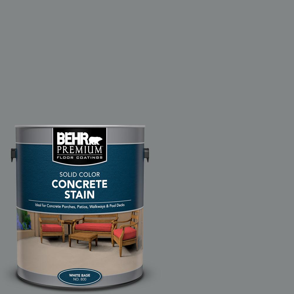 BEHR PREMIUM 1 gal. #PFC-63 Slate Gray Solid Color Flat Interior/Exterior Concrete Stain