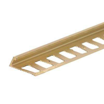 Bright Brass 0.95 in. x 96 in. Aluminum L-angle Tile Edging Strip