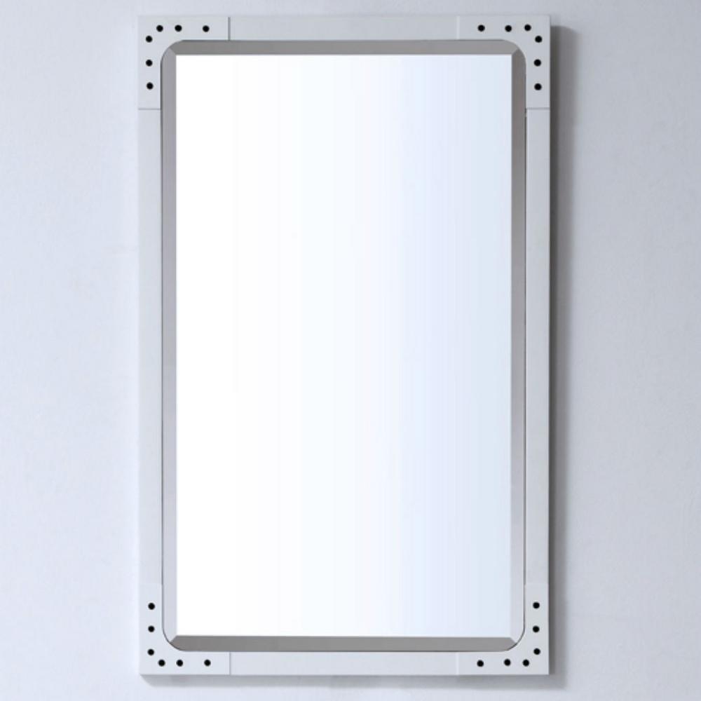 24 in. Framed Wall Mirror in Matt White