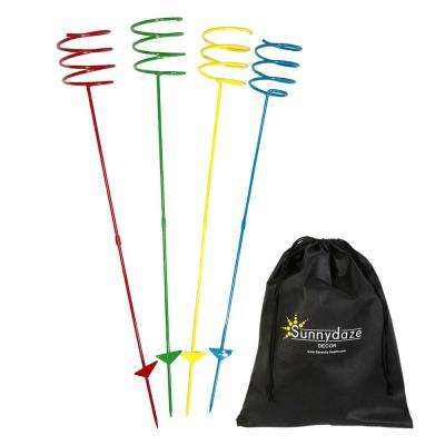 Heavy-Duty Multi-Colored Outdoor Drink Holder Stakes (Set of 4)