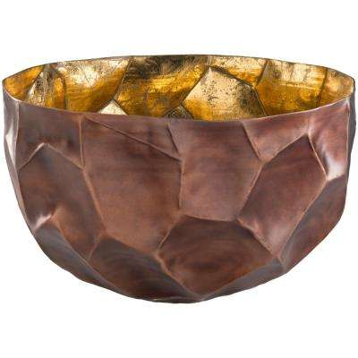 Caz Brown 16.5 in. Decorative Bowl