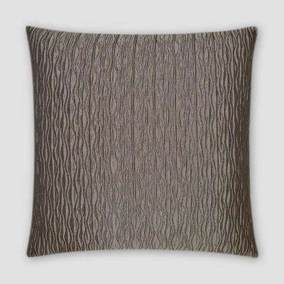 Valencia Taupe Feather Down 18 in. x 18 in. Standard Decorative Throw Pillow