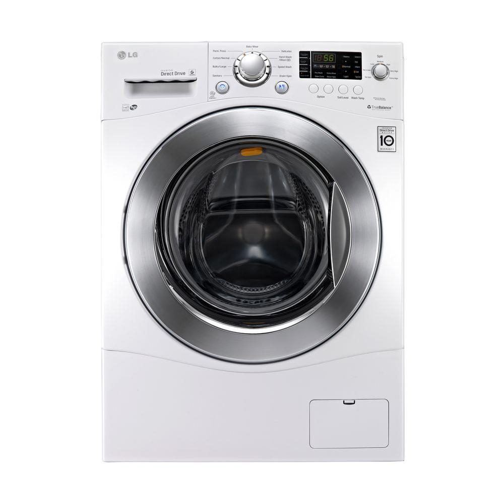 LG Electronics 2.3 cu. ft. High-Efficiency Front Load Washer in White, ENERGY STAR