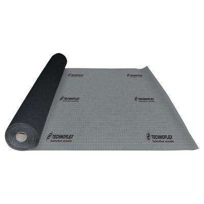TechnoFloor Acoustic 300 sq. ft. 54 in. x 66.67 ft. x 0.13 in. Recycled Rubber Underlayment for All Types of Flooring
