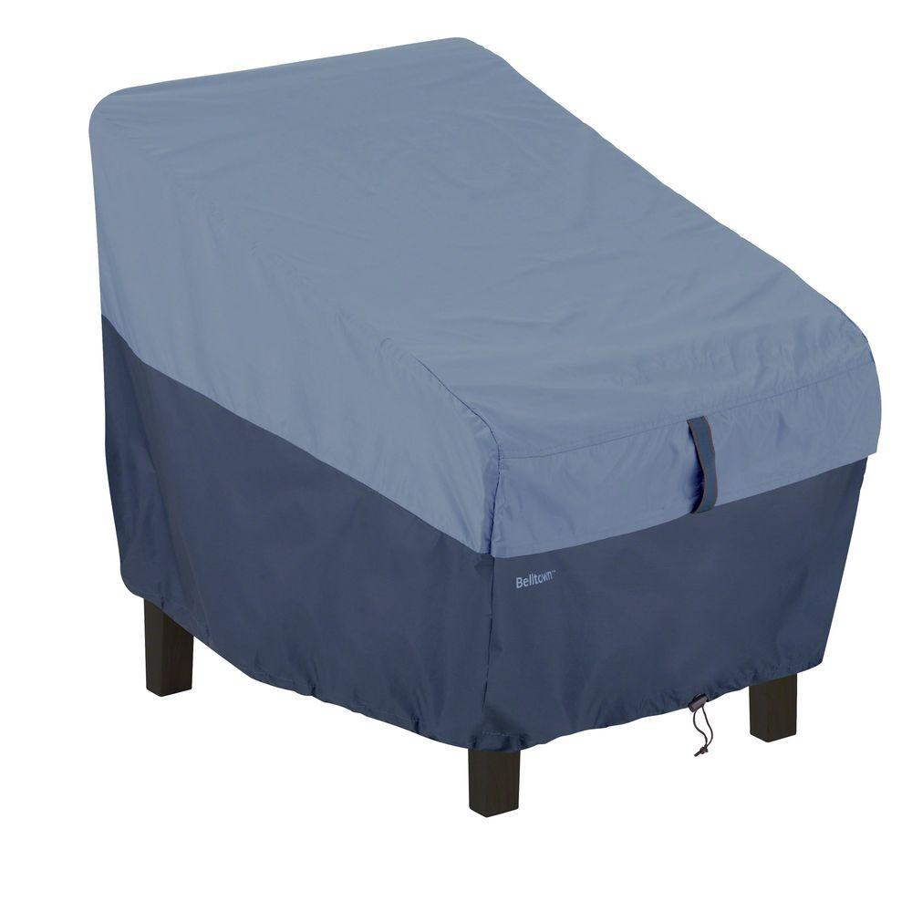 Classic Accessories Belltown Skyline Blue High Back Patio Chair Cover