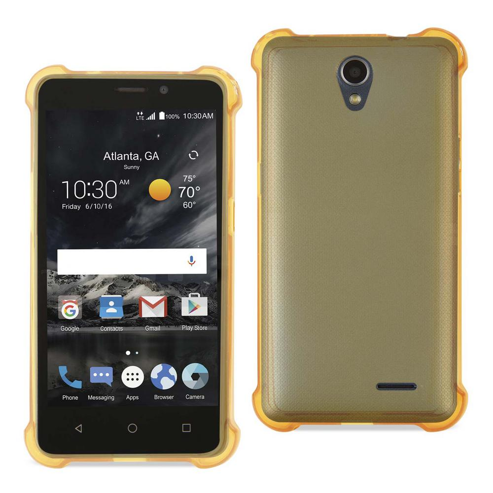 REIKO ZTE Maven 2/ Avid Trio Air Cushion Case in Clear Gold