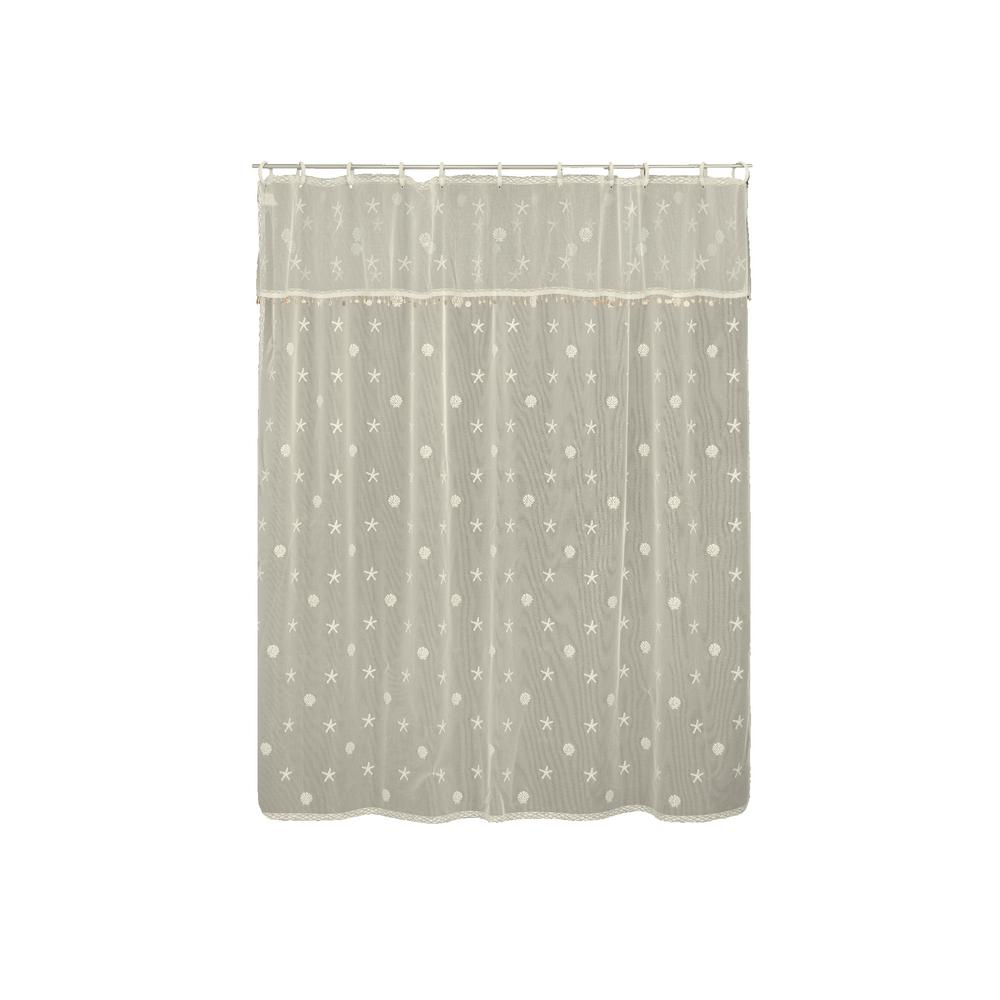 Heritage Lace Sand Shell In. Ecru Shower Curtain