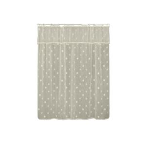Heritage Lace Sand Shell inch Ecru Shower Curtain by Heritage Lace