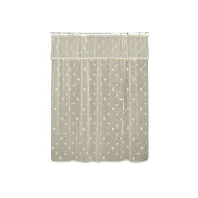 Sand Shell in. Ecru Shower Curtain