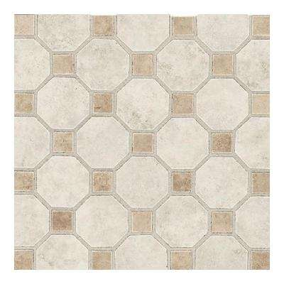Salerno Grigio Perla 12 in. x 12 in. x 6 mm Ceramic Octagon Mosaic Floor and Wall Tile (10 sq. ft. / case)