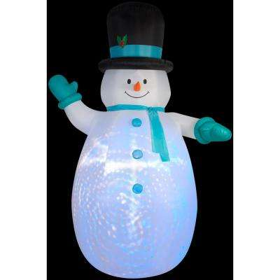 7.75 ft. W x 12 ft. H Projection Giant Snowman with Swirls