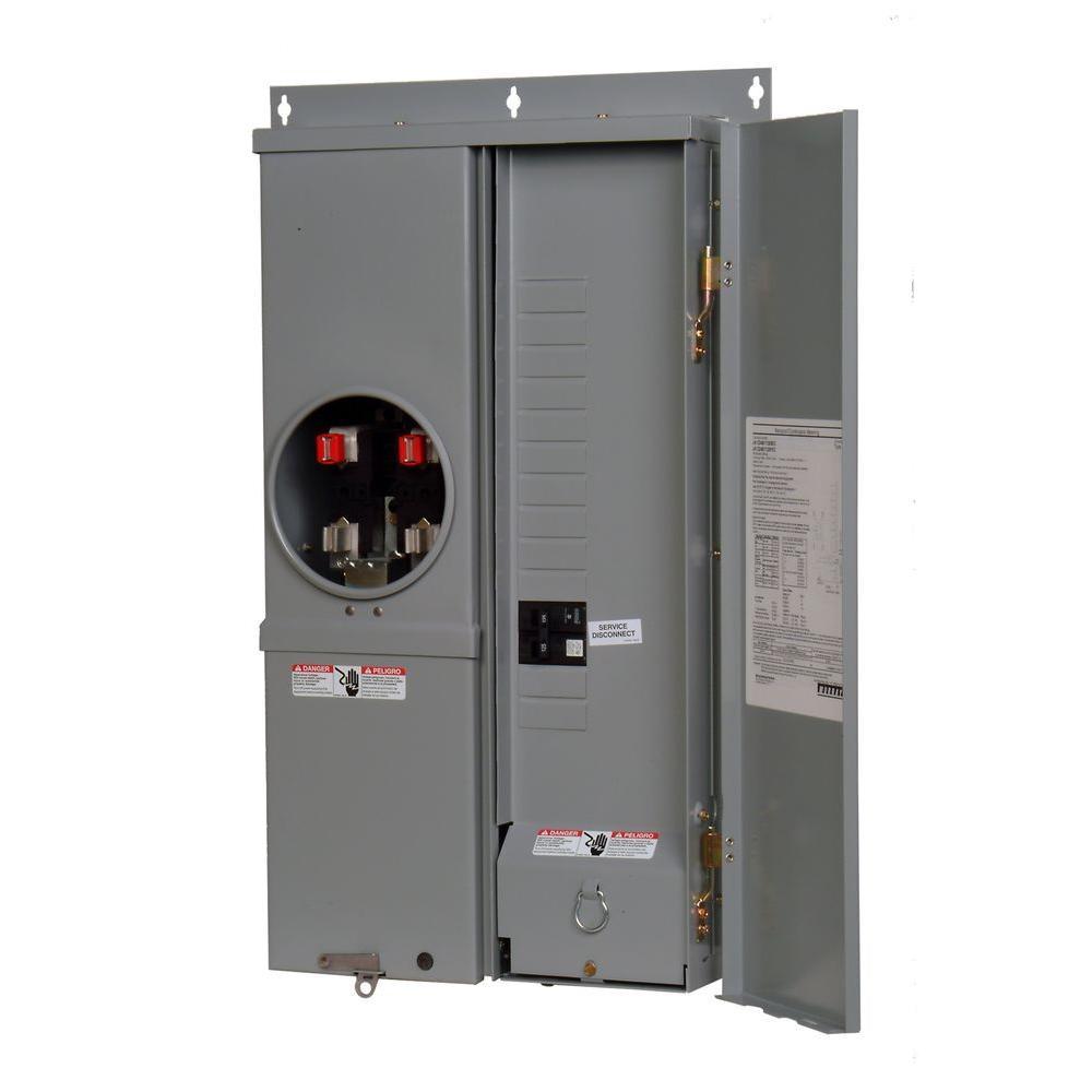 Murray EQ III 100-Amp 12-Space 24-Circuit Overhead or Underground Outdoor Combination Main Breaker/Meter Socket Load Center