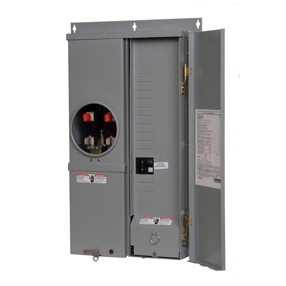 125-Amp 12-Space 24-Circuit Combination Meter Socket Load Center