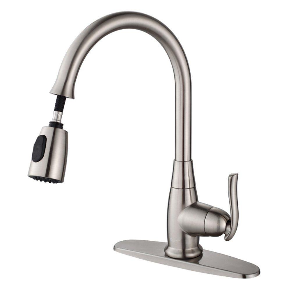 Kraus All In One Farmhouse Apron Front Stainless Steel 30 In Single Bowl Kitchen Sink With Faucet In Satin Nickel