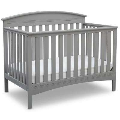 Abby 4-in-1 Convertible Crib, Grey