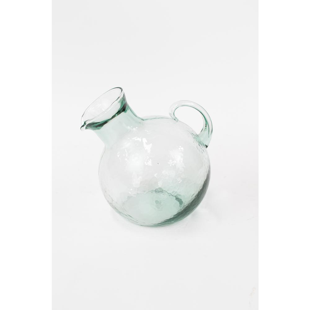 2.25 Qt. Clear Glass Pitcher Tilted with Small Mouth
