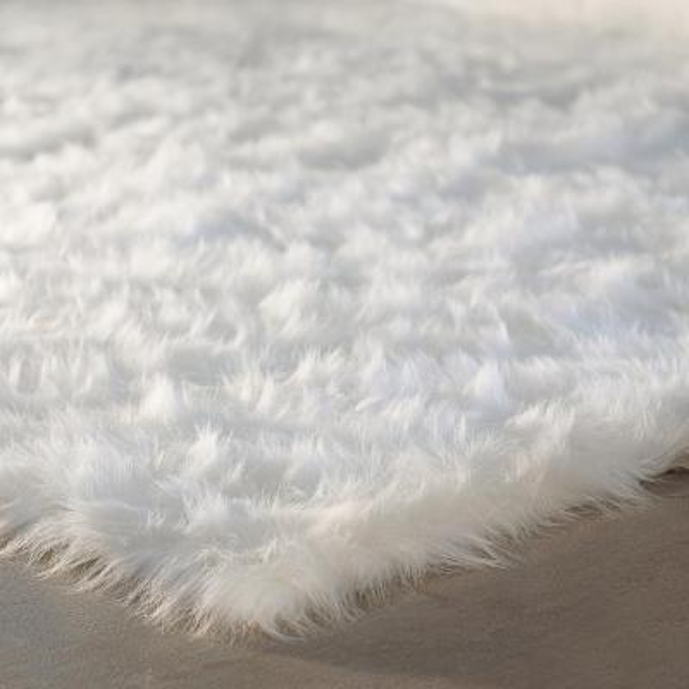 Faux SheepSkin White 3 ft. x 5 ft. Area Rug