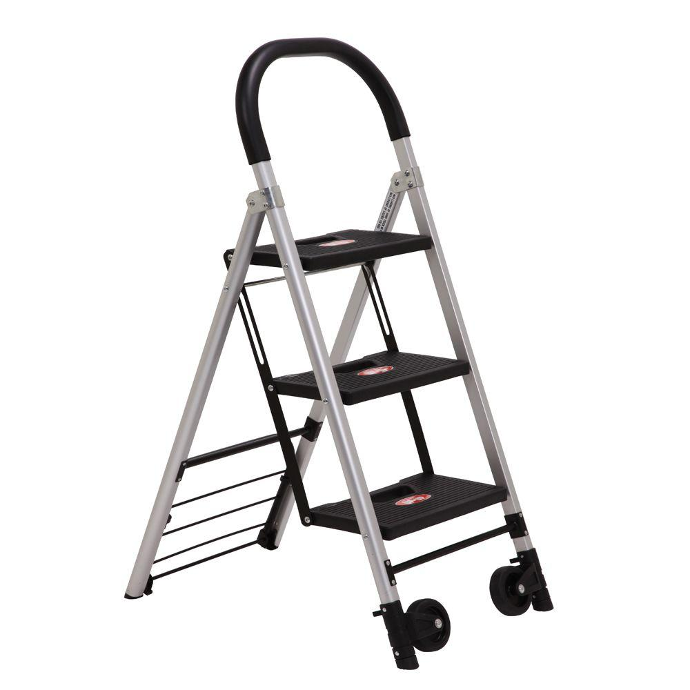 Xtend & Climb 2 in 1 Convertible Aluminum Step Stool and 2-Wheel Folding Hand Truck 265 lb Capacity